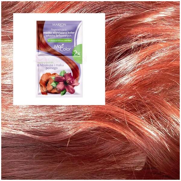 Maseczka marion do włosów farbowanych na czerwienie - ideał podkreślający kolor?