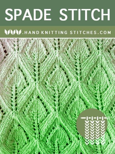 The Art of Lace Knitting - Spade Lace #KnittingPattern. Skill Level: Intermediate