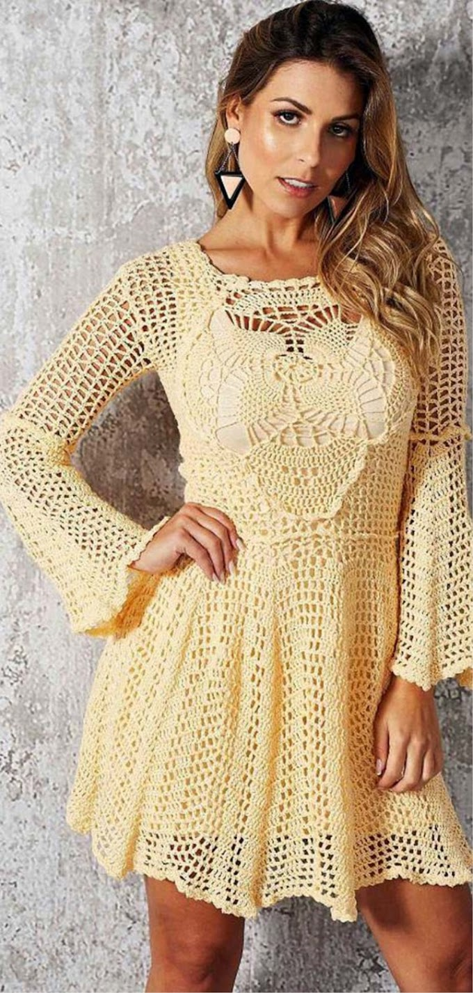 Beautiful crochet dress - free instructions