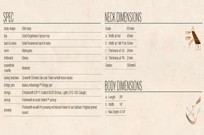 Spesifikasi Ibanez Joe Satriani Signature Series JSA20