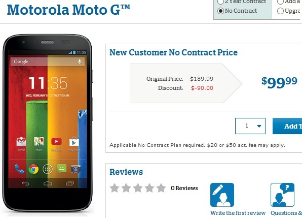 But GSM Moto G without contract in US