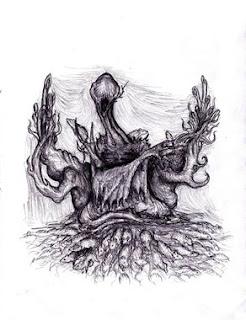 Un dessin de Nyarlathotep trouvé sur le net