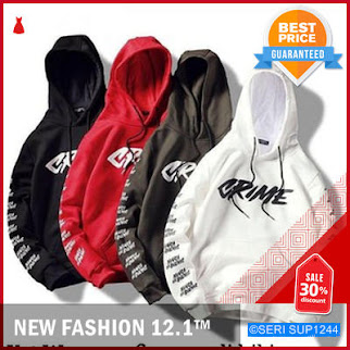 SUP1244F28 Fashion Swaeter Wanita Crime Hodie Sweater BMGShop