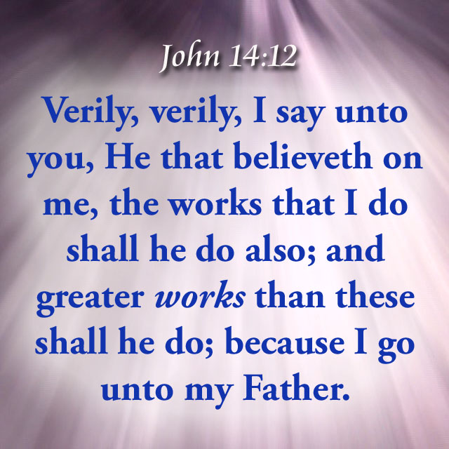 Image result for JOHN 14 :12