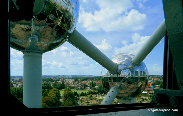 Bruxelas vista do alto do Atomium