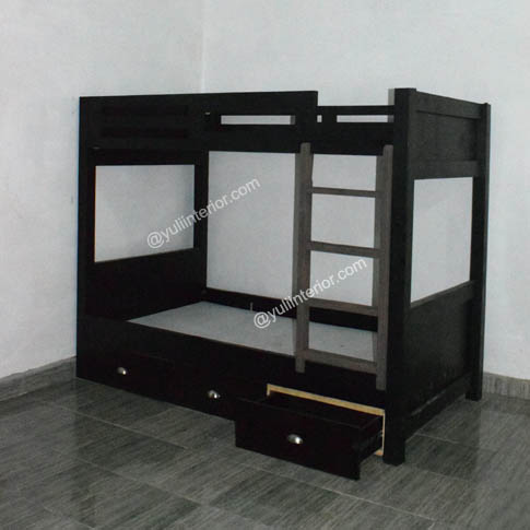 wooden Twin Bunk Beds With Storage Drawers in Port Harcourt, Nigeria