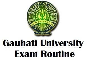 Gauhati University TDC Exam Routine 2018