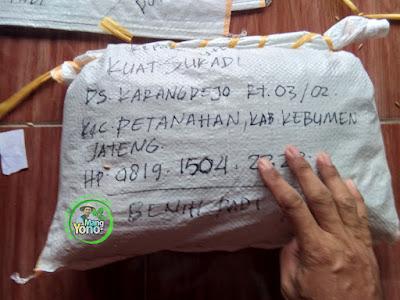 Benih Padi Pesanan KUAT SURADI Kebumen, Jateng.   Benih Sesudah di Packing