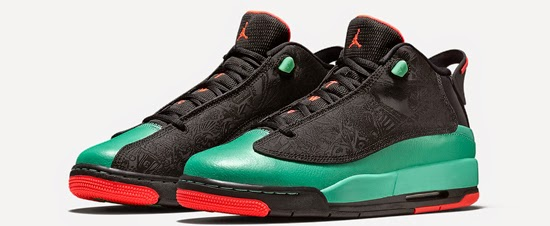 646ee56f7e This Girls Jordan Dub Zero GS comes in a black, infrared and verde  colorway. They feature a black based upper with infrared and verde accents.
