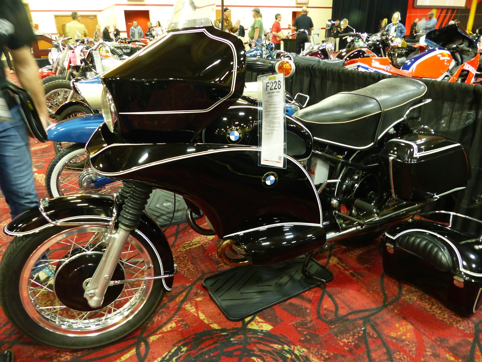 oldmotodude bmw with really ugly fairing for sale at the 2016 mecum las vegas motorcycle auction. Black Bedroom Furniture Sets. Home Design Ideas