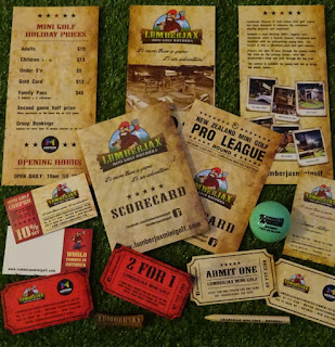 A marvellous selection of minigolf items from Lumberjax Mini Golf