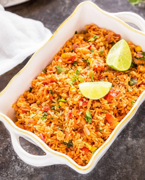 Vegetarian Mexican Rice #dinner #rice