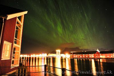 Svolvaer Svinoya Rorbuer, 挪威,  羅浮敦群島, 北極光, aurora, northern light