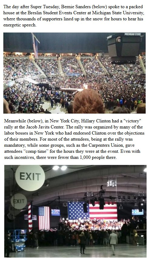 Comparing rallies.