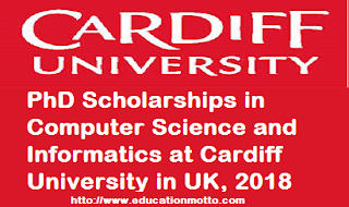 PhD Scholarships in Computer Science 2018, Description of Scholarship, Eligibility Criteria, Method of Applying, LINK OF SCHOLARSHIP, Application Deadline,