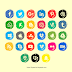 Free Download Social Media Icon Logo Pack Brush Style