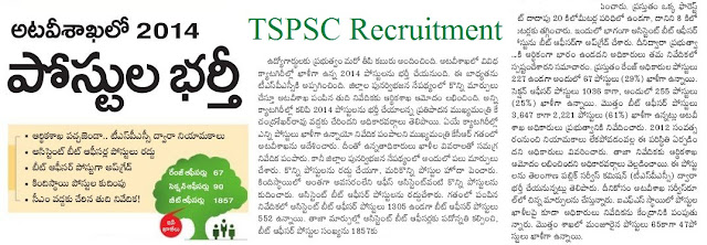 Telangana (TSPSC) Forest Department Resentment Notification 2016
