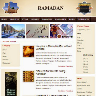 Ramadan Magazine Islamic Blogger Template