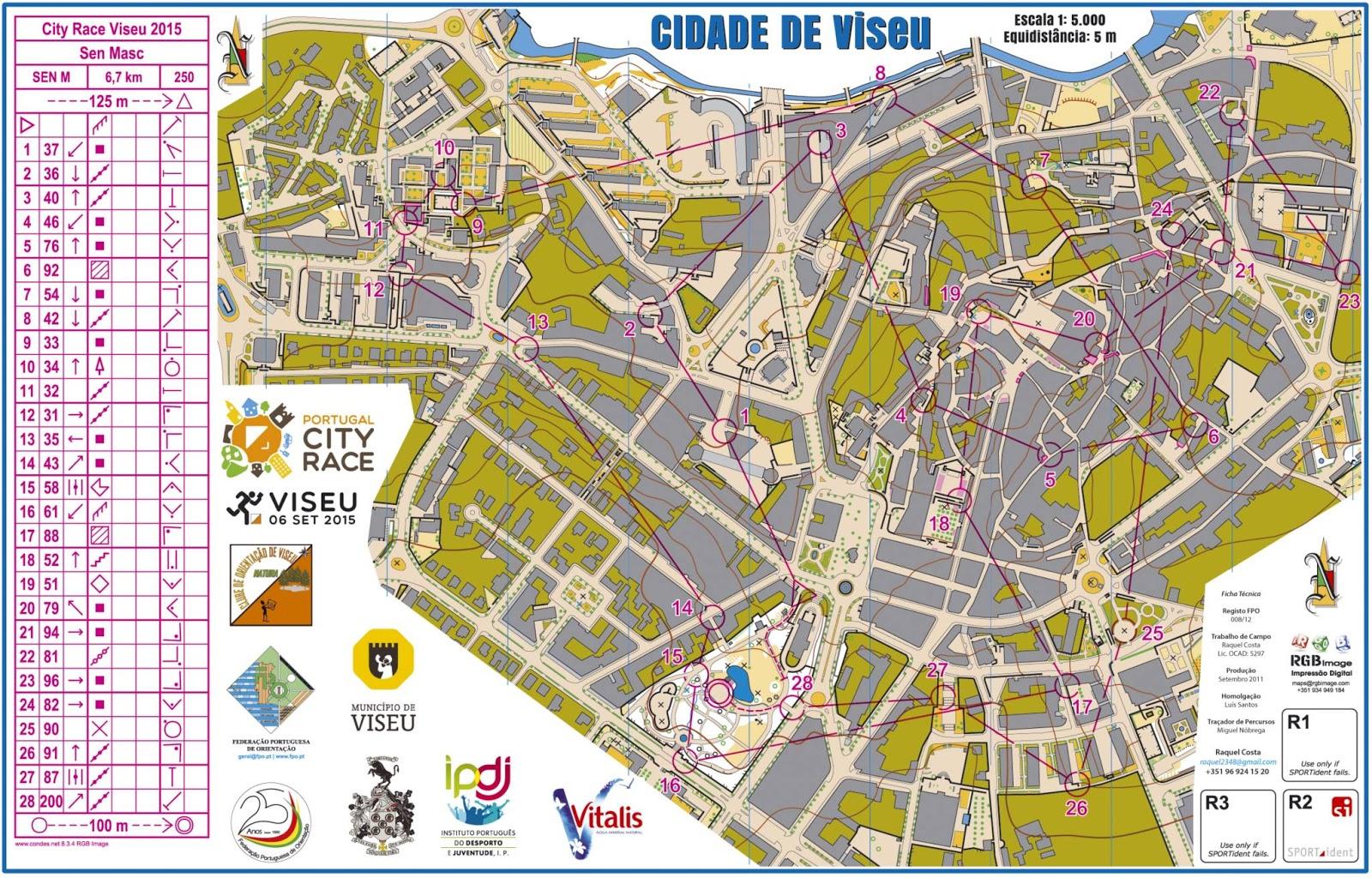 mapa das ruas de viseu ORIENTOVAR: Viseu City Race: Triunfos de Tiago Gingão Leal e  mapa das ruas de viseu