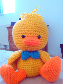crochet amigurumi large duck