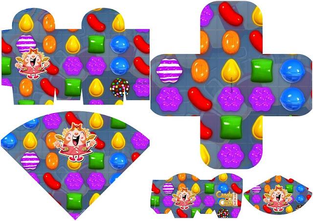Fiesta de Candy Crush: Imprimibles para Fiestas y Cajas para Imprimir Gratis.
