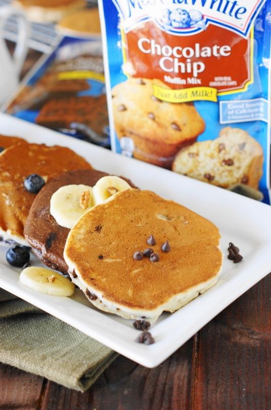 Martha White Chocolate Chip Muffin Mix Pancakes