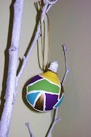 Stained glass light bulb ornaments
