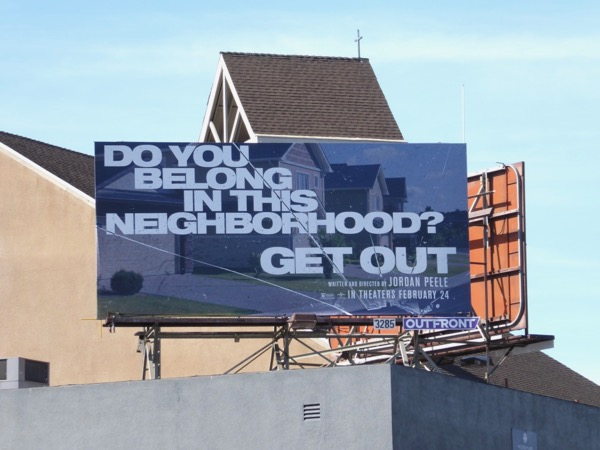 Get Out movie teaser billboard