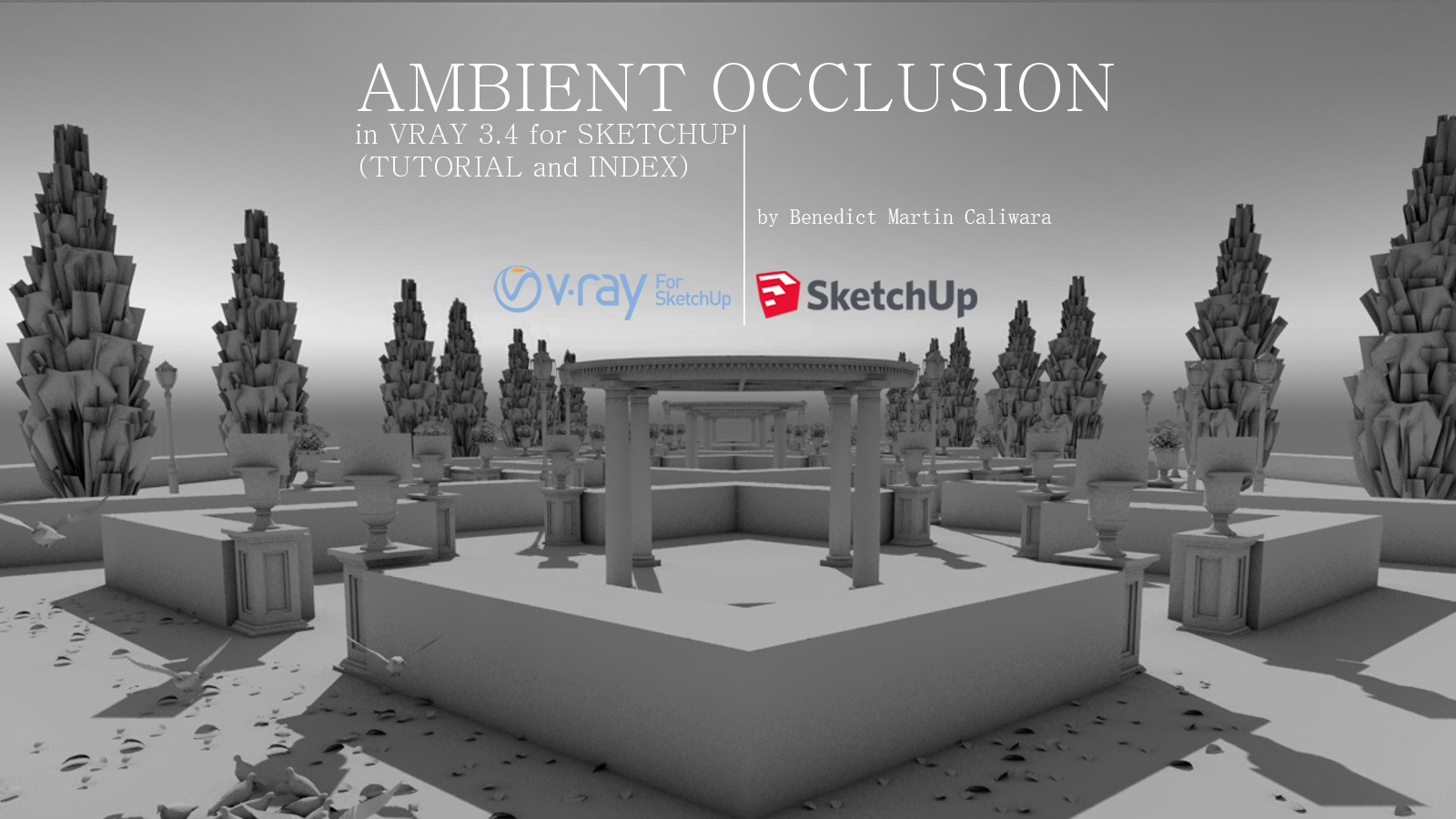 AMBIENT OCCLUSION in VRAY 3 4 for SKETCHUP (TUTORIAL and INDEX)