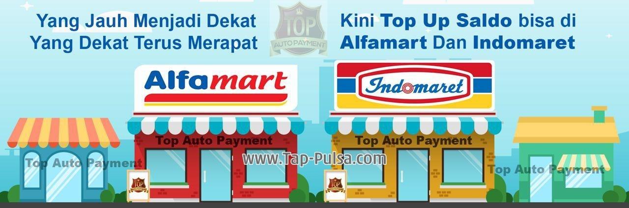 Tap-Pulsa.Com Cara Deposit Isi Saldo Pulsa Termurah via Indomaret/Alfamart