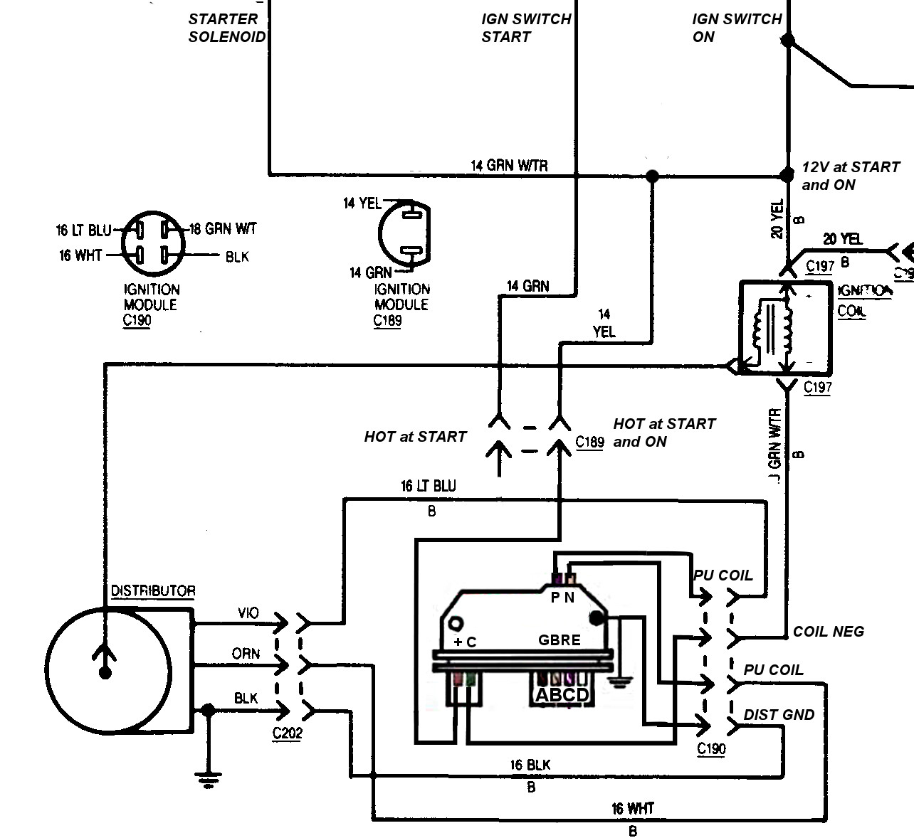 Single Point Distributor Wiring Diagram Gm Libraries Type Ignition Schematic Simple Diagrams