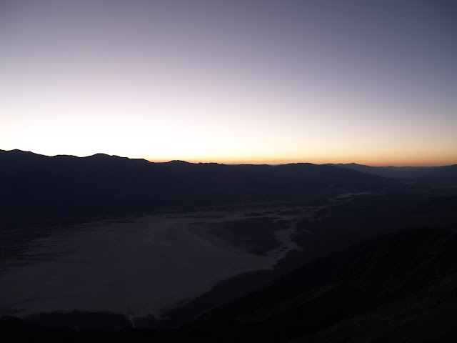 Vista del atardecer desde Dante's View en Death Valley National Park