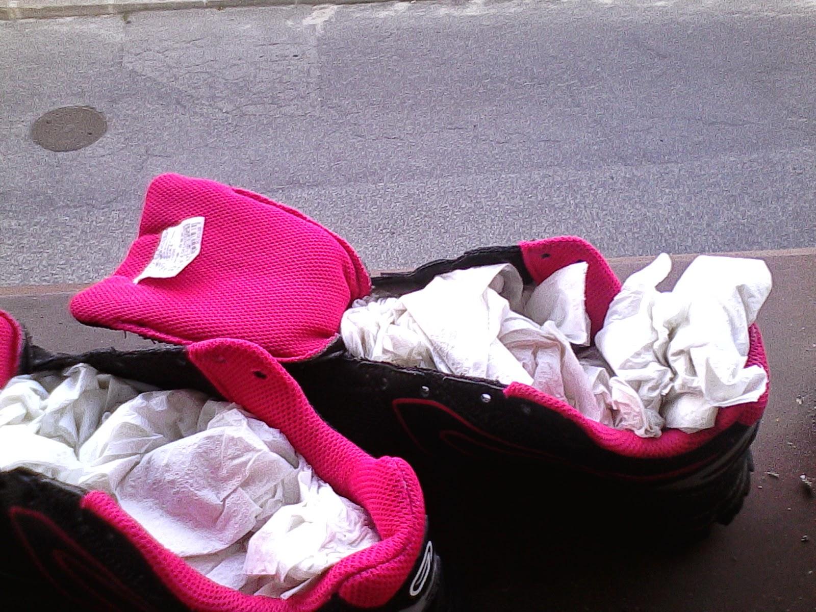 Suszenie butów sportowych