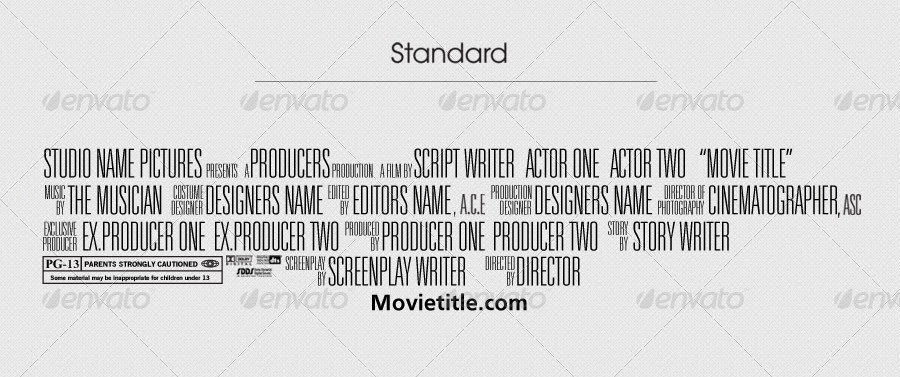 Megan peltell a2 media for Movie poster credits template free