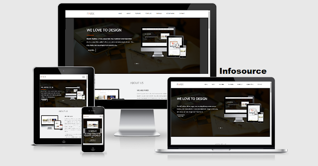 Infosource Parix Is One Page Blogger Template This A Clean And Elegant With Supported Shortcodes Awesome Fonts