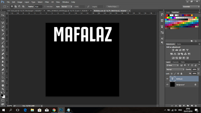 Cara Membuat Tulisan CRIS7ANO Ala Juventus Di Photoshop - 4