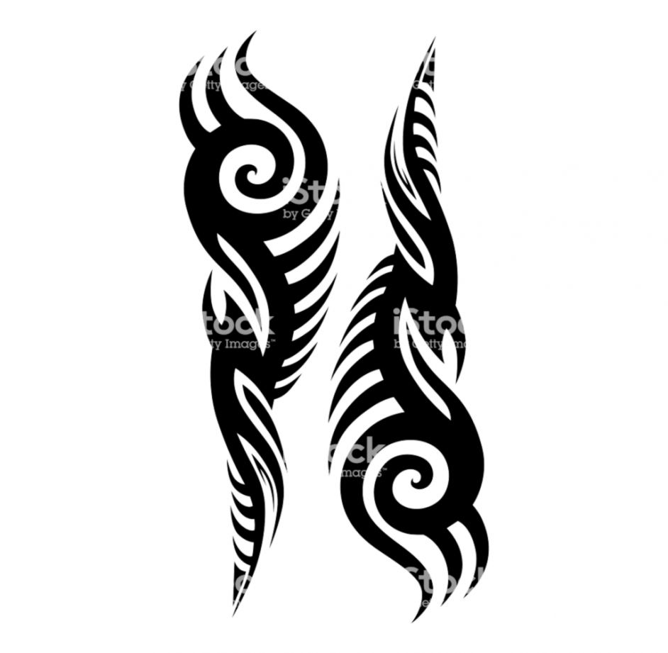 3d97e4ce3 Tribal Tattoo Designs Vector Sketch Simple Abstract Black Ornament