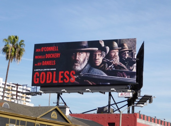 Godless series premiere billboard