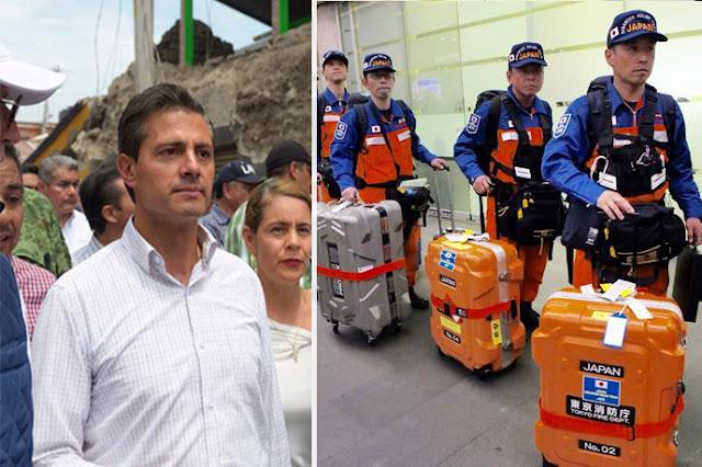 Malos tratos recibieron rescatistas japoneses por gobierno mexicano, se van decepcionados por corrupción.