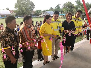 PT. ARCHI Indonesia Melalui PT.MSM dan TTN Bantu Bangun Stadion Mini di Minut