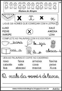 Livro famílias silábicas letra X