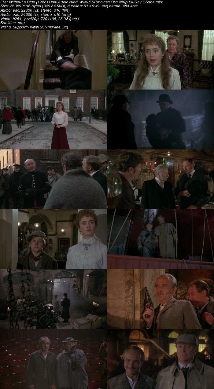 Without a Clue (1988) Dual Audio Hindi 480p BluRay 300MB