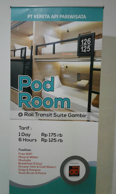 pod room hotel transit di stasiun gambir jakarta