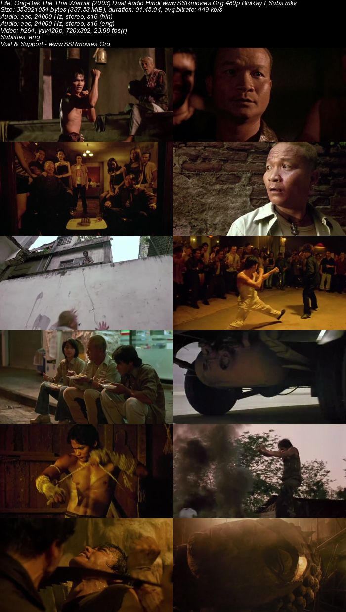 Ong-Bak The Thai Warrior (2003) Dual Audio Hindi 480p BluRay