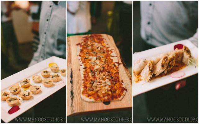 food on platters