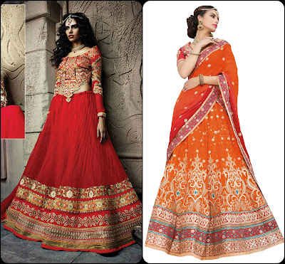 Gotta Patti Boarder, Lehenga Choli, Lehengas from India