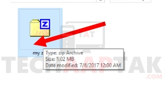 how to unzip a file screenshot