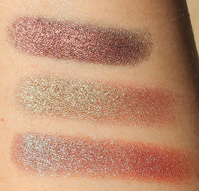 Makeup Geek Duochrome Eyeshadows: Steampunk, Ritzy, Havoc