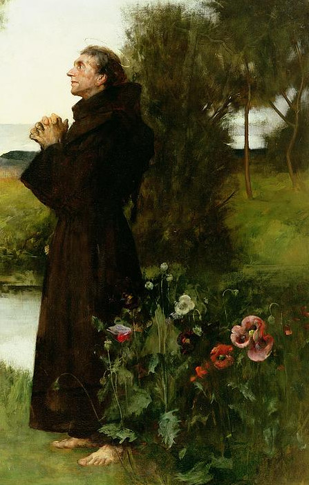 St. Francis Painting By Albert Chevallier Tayler