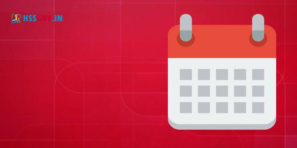 Kerala General Educational Calendar HSSLiVEIN
